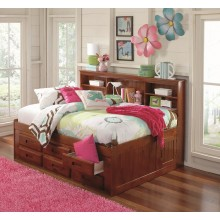 Merlot Twin Bookcase Daybed with 6-Drawers