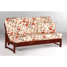 Queen Eureka Futon Sofa in Cherry