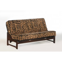 Queen Eureka Futon Sofa in Chocolate