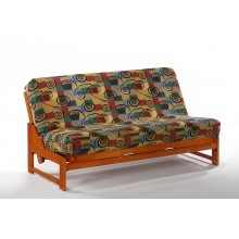 Full Eureka Futon Sofa in Honey Oak