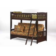 Cinnamon Twin-Futon Chocolate Bunk Bed