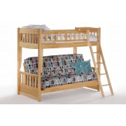 Cinnamon Twin-Futon Natural Bunk Bed