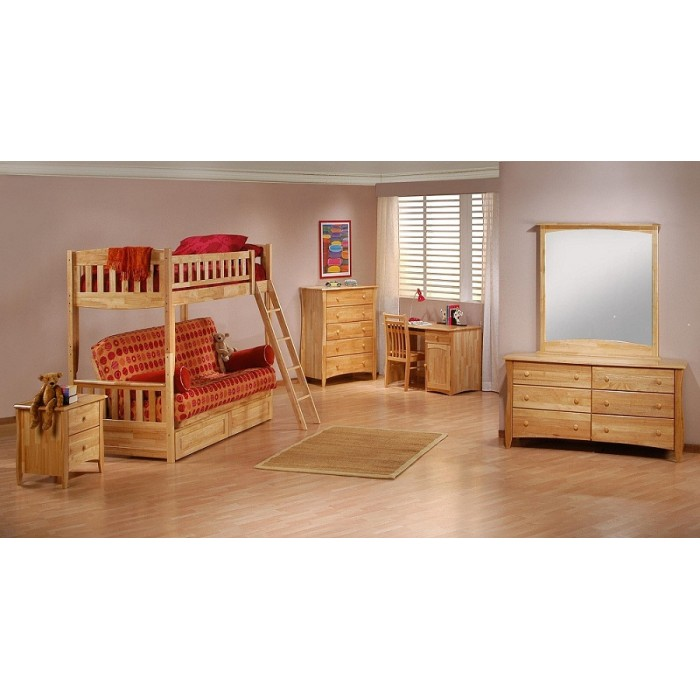 Cinnamon Twin Futon White Bunk Bed