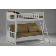 Cinnamon Twin-Futon White Bunk Bed