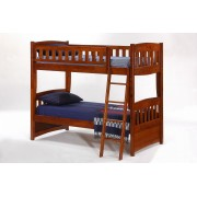 Cinnamon Twin-Twin Cherry Bunk Bed