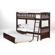 Cinnamon Twin-Twin Chocolate Bunk Bed Save $170