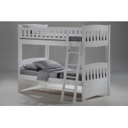 Cinnamon Twin-Twin White Bunk Bed