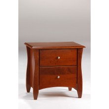 Cherry Clove 2-Drawer  Nightstand