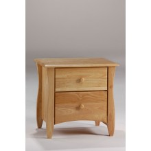 Natural Clove 2-Drawer Nightstand