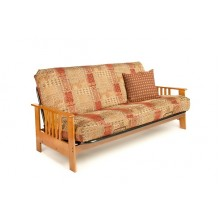Dakota Wood-Metal Futon Frame