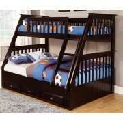 Espresso Twin-Full Bunk Bed Save $120