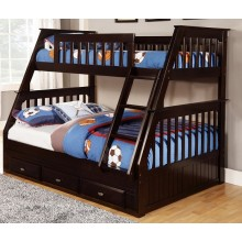 Espresso Twin-Full Bunk Bed