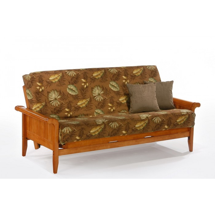 Full Venice Futon Sofa In Honey Oak