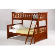 Ginger Twin-Full Cherry Bunk Bed Save $190