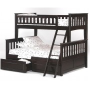 Ginger Twin-Full Chocolate Bunk Bed