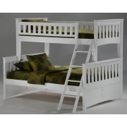 Ginger Twin-Full White Bunk Bed