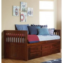 Merlot Rake Bed with 6-Drawers