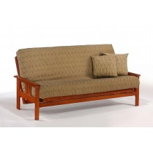 Queen Monterey Futon Sofa in Cherry