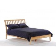 Natural Nutmeg Platform Bed
