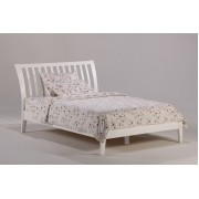 White Nutmeg Platform Bed