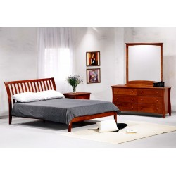 Cherry Nutmeg Platform Bed