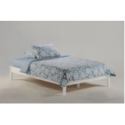 White Basic Platform Bed