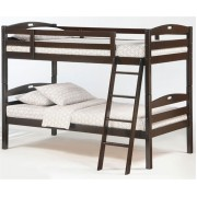 Chocolate Twin-Twin Sesame Bunk Bed