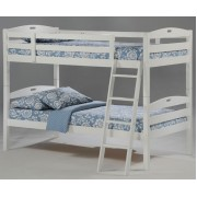 White Twin-Twin Sesame Bunk Bed Save $100