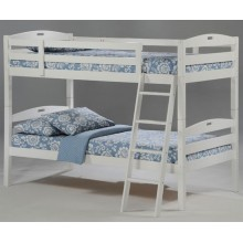 White Twin-Twin Sesame Bunk Bed
