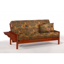 Full Winston Futon Sofa in Cherry