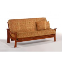 Queen Fuji Futon Sofa in Cherry