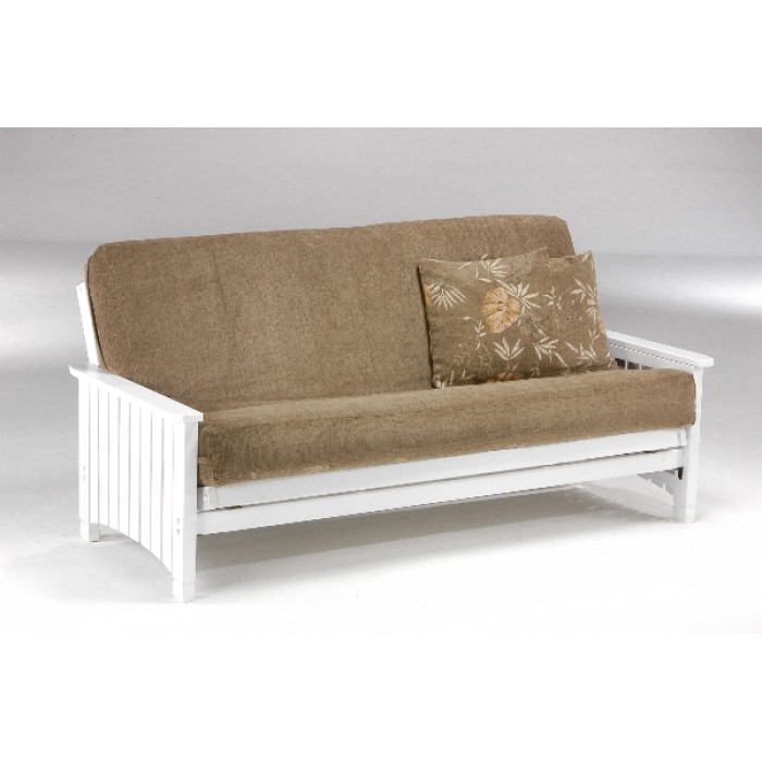 Full Key West Futon Sofa In White