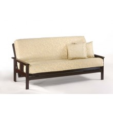 Queen Monterey Futon Sofa in Chocolate