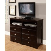 Espresso 6-Drawer Entertainment Dresser