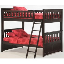 Ginger Full-Full Chocolate Bunk Bed