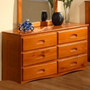 Honey 6-Drawer Dresser