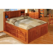 honey captains full bed with 12drawers