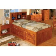 Honey Captains Twin Bed with 6-Drawers