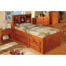 Honey Captains Twin Bed with 12-Drawers