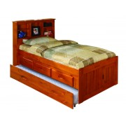 Honey Captains Twin Bed with 3-Drawers and Trundle