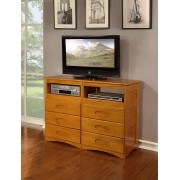 Honey 6-Drawer Entertainment Dresser