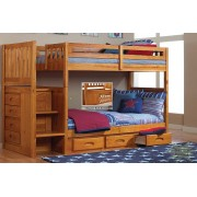 Honey Twin-Twin Mission Staircase Bunk Bed Save $130