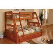 Honey Twin-Full Mission Bunk Bed