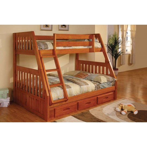 Honey Twin Full Mission Bunk Bed