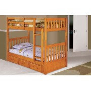 Honey Twin-Twin Mission Bunk Bed