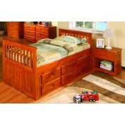 Honey Rake Bed with 6-Drawers