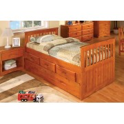 Honey Rake Bed with 3-Drawers and Trundle