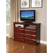 Merlot 6-Drawer Entertainment Dresser