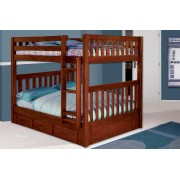 Merlot Full-Full Mission Bunk Bed