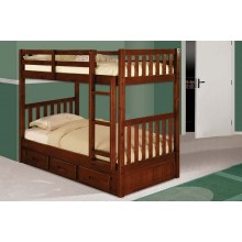 Merlot Twin-Twin Mission Bunk Bed